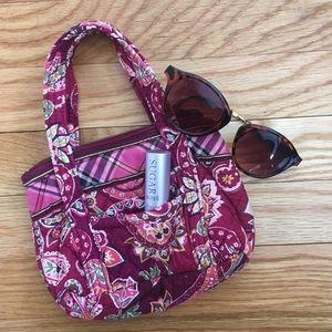 Vera Bradley Mini Handbag in Piccadilly Plum
